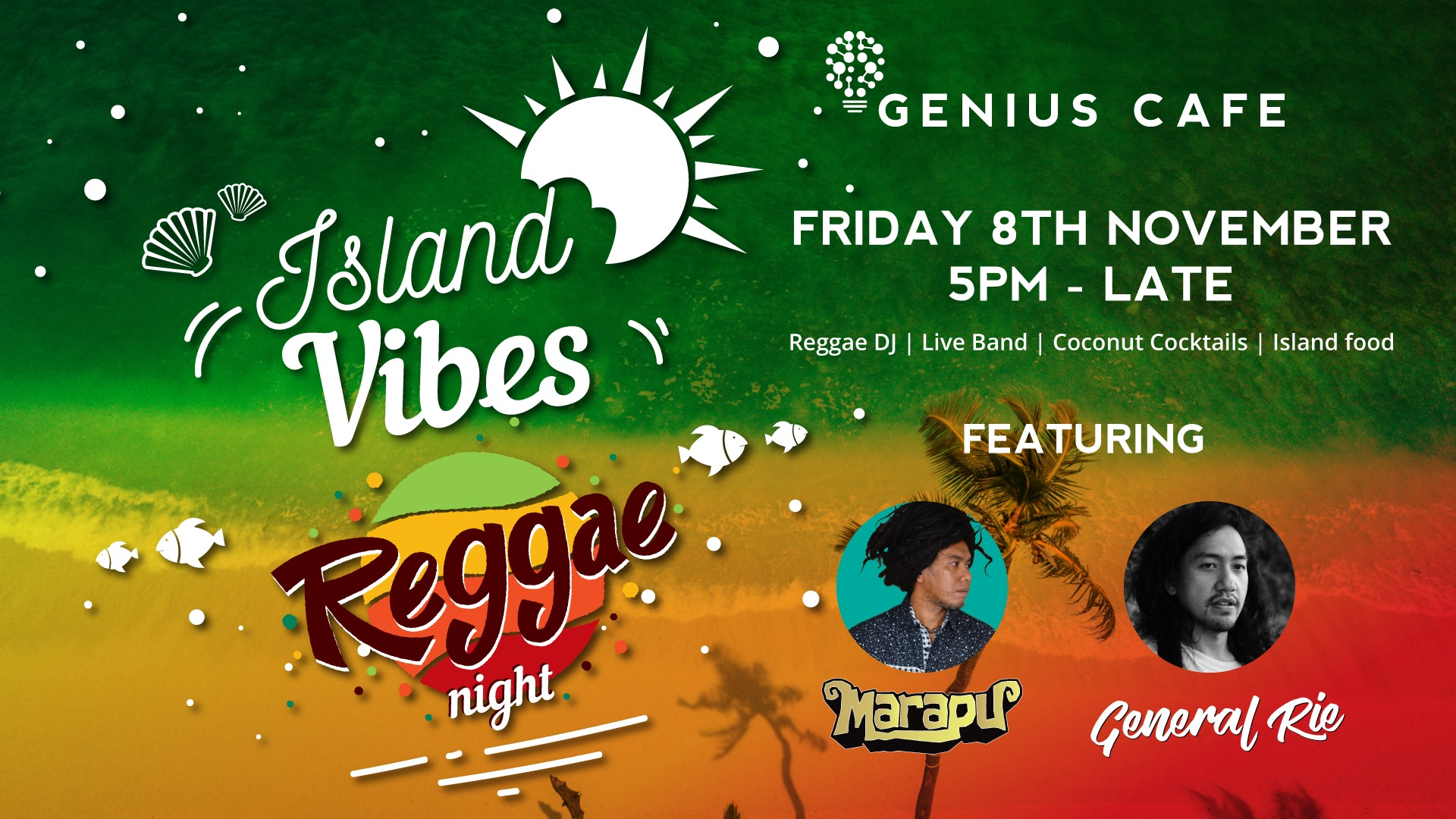 Island Vibes Reggae Night with Marapu